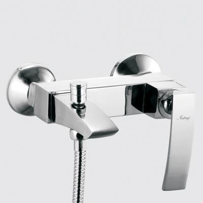 Single Lever Wall Mixer with Tele. Shower Arr.